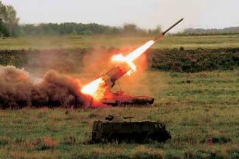 Тяжелая огнеметная система ТОС-1, она же «Буратино».